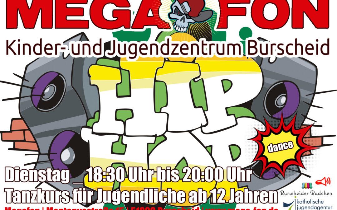 Hip Hop Dance im Megafon | Dienstags von 18.30h bis 20h, Tanzkurs für Jugendliche ab 12 Jahren