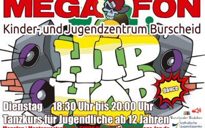 Hip Hop Dance im Megafon   Dienstags von 18.30h bis 20h, Tanzkurs für Jugendliche ab 12 Jahren