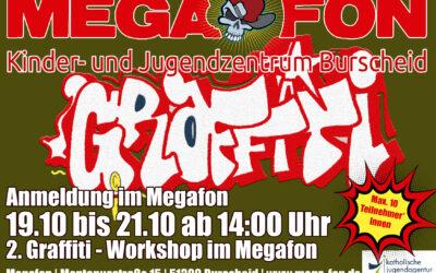 2. Graffiti-Workshop mit Felix | 19.10 – 21. 10 ab 14h im Megafon